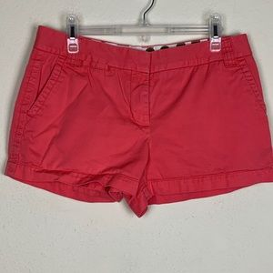 J Crew- Chinos Salmon Colored Twill Shorts size 10